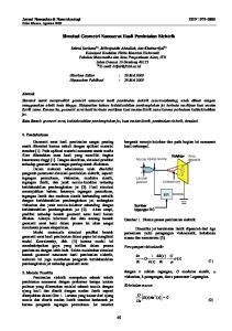 Simulasi Geometri Nanoserat Hasil Pemintalan Elektrik