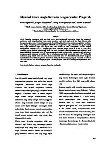 Simulasi Kincir Angin Savonius dengan Variasi Pengarah