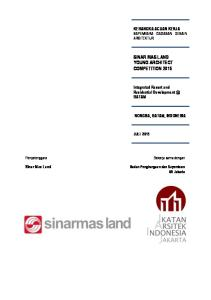 SINAR MAS LAND YOUNG ARCHITECT COMPETITION 2015