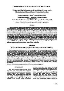 Sinkronisasi Suplai Protein dan Energi dalam Rumen untuk Meningkatkan Efisiensi Pakan Berkualitas Rendah