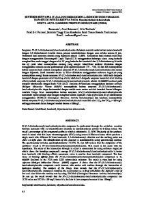 SINTESIS SENYAWA N -(3,5-DINITROBENZOYL)-ISONICOTINOHYDRAZIDE DAN STUDI INTERAKSINYA PADA