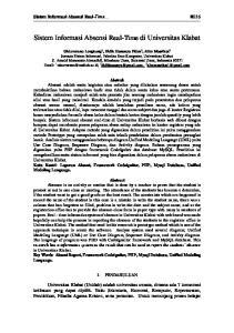 Sistem Informasi Absensi Real-Time di Universitas Klabat