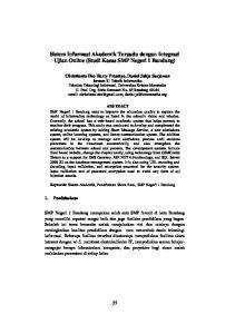Sistem Informasi Akademik Terpadu dengan Integrasi Ujian Online (Studi Kasus SMP Negeri 1 Bandung)