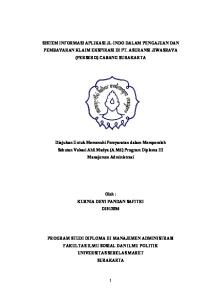 SISTEM INFORMASI APLIKASI JL-INDO DALAM PENGAJUAN DAN PEMBAYARAN KLAIM EKSPIRASI DI PT. ASURANSI JIWASRAYA (PERSERO) CABANG SURAKARTA