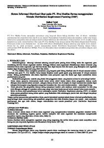 Sistem Informasi Distribusi Obat pada PT. Fiva Medika Farma menggunakan Metode Distribution Requirement Planning (DRP)
