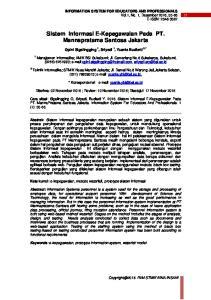 Sistem Informasi E-Kepegawaian Pada PT. Mannapratama Santosa Jakarta