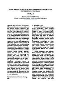 SISTEM INFORMASI GEOGRAFIS PEMETAAN KAWASAN PELABUHAN DI PROVINSI KALIMANTAN BARAT. Aji Arisyandi