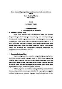 Sistem informasi lingkungan hidup kota Surakarta berbasis sistem informasi geografi. Imam Budiarto Aribawa NIM K BAB II LANDASAN TEORI