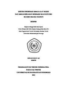 SISTEM INFORMASI ORDER ALAT MUSIK DAN ORDER REKAMAN BERBASIS WEB DI STUDIO RECORD ORANGE MADIUN SKRIPSI