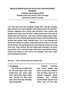 Sistem Informasi Penjualan Online Pada Toko Dany S Sport Semarang