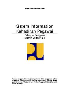 Sistem Information Kehadiran Pegawai Petunjuk Pengguna (Admin-unitkerja )