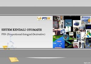 SISTEM KENDALI OTOMATIS. PID (Proportional-Integral-Derivative)