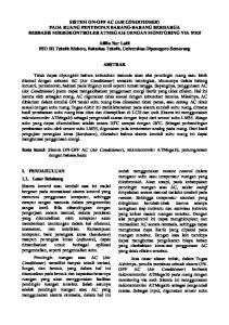 SISTEM ON-OFF AC (AIR CONDITIONER) PADA RUANG PENYIMPAN BARANG-BARANG BERHARGA BERBASIS MIKROKONTROLER ATMEGA16 DENGAN MONITORING VIA WEB