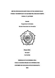 Skripsi sistem pendukung keputusan penentuan sanksi pelanggaran sistem pendukung keputusan untuk menentukan tingkat kedisiplinan dan sanksi pelanggaran siswa di sma n 1 jatinom ccuart Choice Image