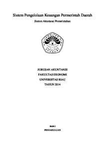 Sistem Pengelolaan Keuangan Permerintah Daerah