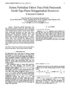 Sistem Perbaikan Faktor Daya Pada Penyearah Diode Tiga Phasa Menggunakan Hysteresis Current Control