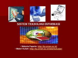 Sistem Teknologi Informasi. Website Faperta:  Materi Kuliah: