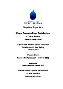 Skripsi dan Tugas Akhir. Kantor Sewa dan Pusat Perbelanjaan di Cikini Jakarta