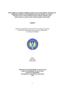 SKRIPSI. Diajukan kepada Fakultas Ekonomi Universitas Negeri Yogyakarta untuk Memenuhi Sebagian Persyaratan guna Memperoleh Gelar Sarjana Pendidikan
