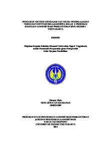 SKRIPSI. Diajukan Kepada Fakultas Ekonomi Universitas Negeri Yogyakarta untuk Memenuhi Persyaratan guna Memperoleh Gelar Sarjana Pendidikan