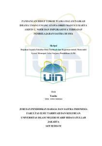 Skripsi. Diajukan kepada Fakultas Ilmu Tarbiyah dan Keguruan untuk Memenuhi Syarat Mencapai Gelar Sarjana Pendidikan (S