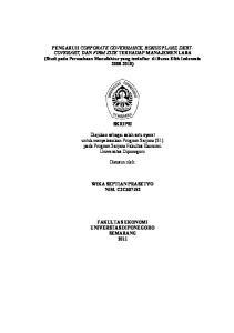 SKRIPSI. Diajukan sebagai salah satu syarat untuk menyelesaikan Program Sarjana (S1) pada Program Sarjana Fakultas Ekonomi Universitas Diponegoro
