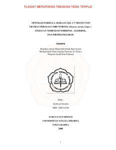 SKRIPSI. Diajukan untuk Memenuhi Salah Satu Syarat Memperoleh Gelar Sarjana Farmasi (S. Farm.) Program Studi Ilmu Farmasi