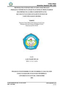 SKRIPSI Diajukan Untuk Memenuhi Sebagian Syarat Guna Memperoleh Gelar Sarjana Pendidikan (S.Pd) Pada Jurusan PG PAUD