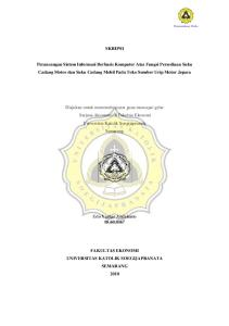 SKRIPSI. Diajukan untuk memenuhi syarat guna mencapai gelar Sarjana Akuntansi di Fakultas Ekonomi Universitas Katolik Soegijapranata Semarang