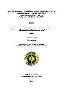 SKRIPSI. Disusun Dan Diajukan Untuk Melengkapi Persyaratan Memperoleh Gelar Sarjana Hukum Universitas Sumatera Utara OLEH :
