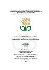 SKRIPSI. Disusun Oleh: Zainal Musthofa Dosen Pembimbing : Mohammad Zamroni S.Sos, M.S.i NIP