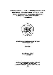 Skripsi Ini Disusun Guna Memenuhi Salah Satu Syarat untuk Memperoleh Ijazah. Disusun Oleh : Harry Maulana Prakoso J