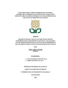 SKRIPSI. Oleh: MUH. AMRI CAHYADI PEMBIMBING: 1. Dr. H. SYAFIQ M. HANAFI, M. Ag 2. JOKO SETYONO, S.E, M. Si PROGRAM STUDI KEUANGAN ISLAM