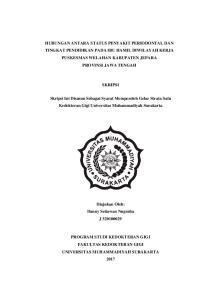SKRIPSI. Skripsi Ini Disusun Sebagai Syarat Memperoleh Gelar Strata Satu Kedokteran Gigi Universitas Muhammadiyah Surakarta