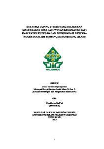 SKRIPSI Untuk memenuhi persyaratan Mencapai Derajat Sarjana Sosial Islam (S. Sos. I) Jurusan Bimbingan dan Penyuluhan Islam (BPI) Oleh