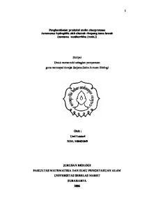 Skripsi Untuk memenuhi sebagian persyaratan guna mencapai derajat Sarjana Sains Jurusan Biologi