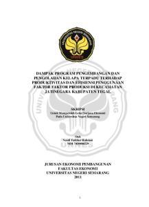 SKRIPSI Untuk Memperoleh Gelar Sarjana Ekonomi Pada Universitas Negeri Semarang. Oleh Nendi Fatkhur Rahman NIM