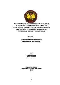 SKRIPSI. Untuk memperoleh gelar Sarjana Hukum pada Universitas Negeri Semarang. Oleh Ikhsan Al Hakim NIM
