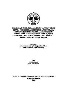 SKRIPSI Untuk memperoleh gelar Sarjana Pendidikan pada Universitas Negeri Semarang. Oleh Ani Rosiyanti NIM