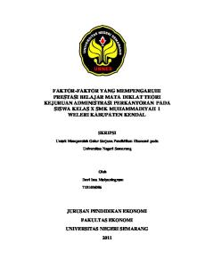 SKRIPSI. Untuk Memperoleh Gelar Sarjana Pendidikan Ekonomi pada. Universitas Negeri Semarang. Oleh. Devi Ima Mulyaningrum