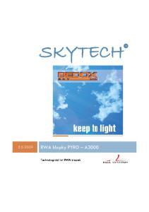 SKYTECH RWA klapky PYRO A3000. Technologický list RWA klapek