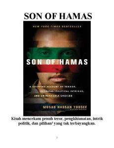 SON OF HAMAS Kisah mencekam penuh teror, pengkhianatan, intrik politik, dan pilihan² yang tak terbayangkan