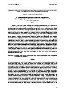 Sosio Ekonomika Bisnis ISSN