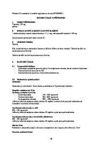 SOUHRN ÚDAJŮ O PŘÍPRAVKU. 2. KVALITATIVNÍ A KVANTITATIVNÍ SLOŽENÍ 1 tableta obsahuje tiapridi hydrochloridum 111,1 mg, což odpovídá tiapridum 100 mg