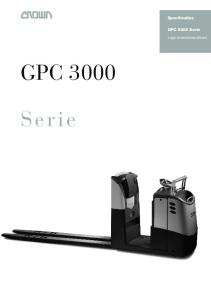 Specificaties. GPC 3000 Serie. Lage orderverzameltruck GPC Serie