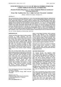 SPERMONDE (2016) 2(2): ISSN: POTENSI TUNIKATA RHOPALAEA SP. SEBAGAI SUMBER INOKULUM JAMUR SIMBION PENGHASIL ANTIMIKROBA