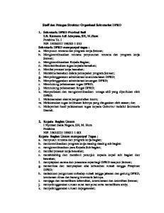 Staff dan Petugas Struktur Organisasi Sekretariat DPRD
