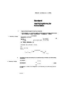 Standaard machtigingsformujier BUS formulieren