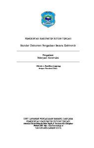 Standar Dokumen Pengadaan Secara Elektronik