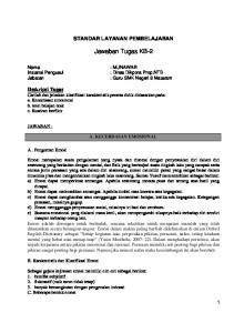 STANDAR LAYANAN PEMBELAJARAN. Jawaban Tugas KB-2. : Guru SMK Negeri 8 Mataram